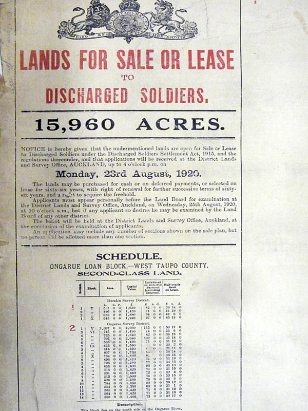 1920-Lands For Sale or Lease